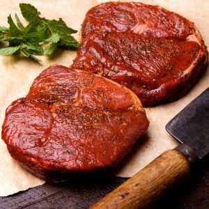 Minted Lamb Leg Steak Boneless 200g-227g / 7-8oz