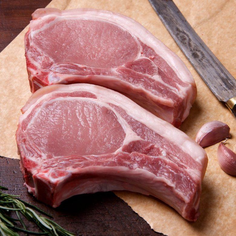 2x 252g-280g / 9-10oz Pork Chops