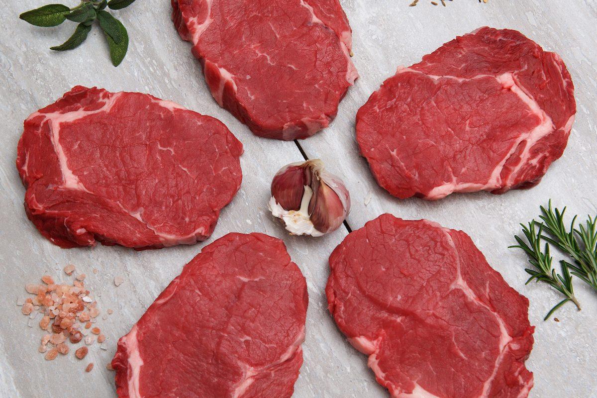 5 x 7/8oz Aged Ribeye Steaks