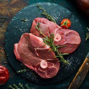 Bone in Irish Lamb Leg Steak x 2  227g+