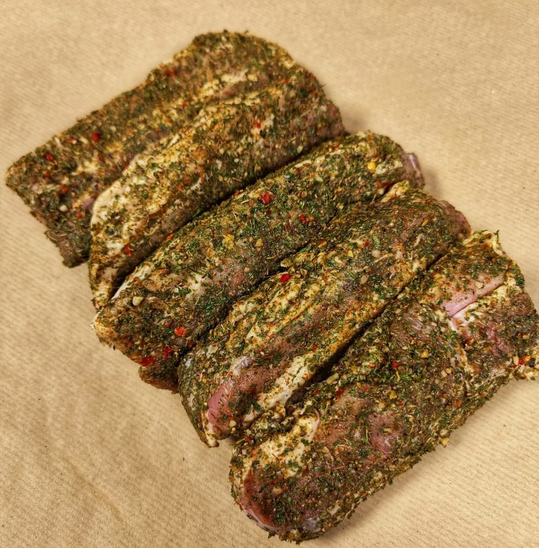 Chimichurri Pork Belly Slices 1kg+